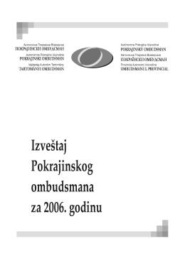 Godišnji izveštaj Pokrajinskog ombudsmana za 2006.g.