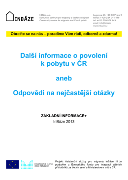 Brožura II v českém jazyce