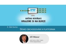 PDF 2. Demo obchodování a platforma
