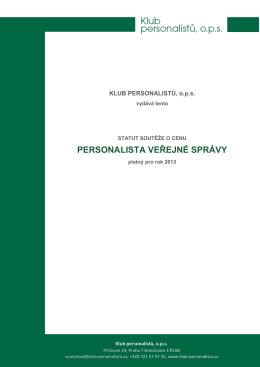 PERSONALISTA VEŘEJNÉ SPRÁVY - Klub Personalistů