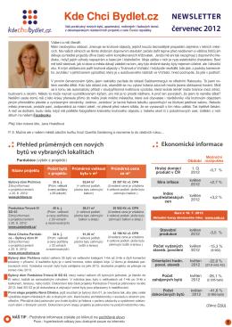 Newsletter červenec 2012