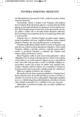 Ukázka z knihy Canterburské povídky