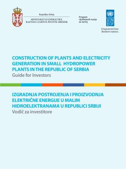 Izgradnja postrojenja i proizvodnja električne energije u malim
