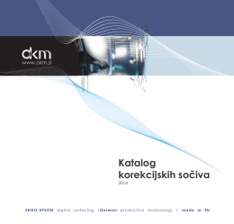 Katalog korekcijskih sočiva