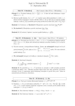 Ispit iz Matematike II