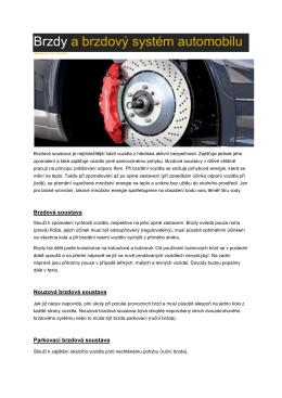 Brzdy a brzdový systém automobilu