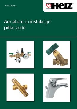Armature za instalacije pitke vode