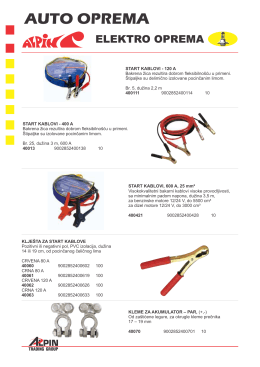 Auto oprema 03 - Elektro oprema