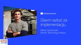 """MS Windows 2012 Server"": Главни разлози за"