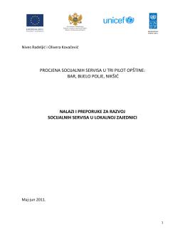 MNE rezime - UNDP in Montenegro