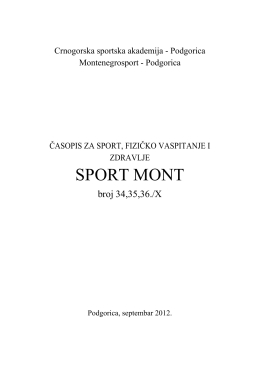 SPORT MONT