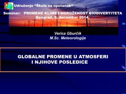 globalne promene u atmosferi i njihove posledice