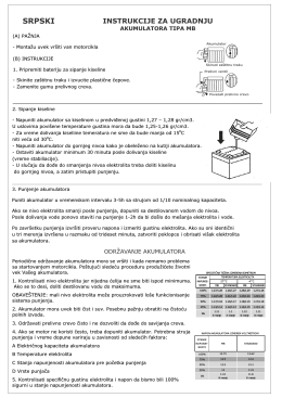 Uputstvo za MB akumulator