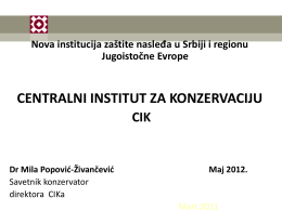 1.Mila Popović Živančević - ICOM-SEE