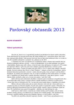 Pavlovský občasník 2013