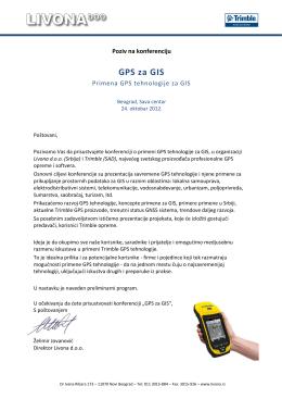GPS za GIS 2012 - pozivnica