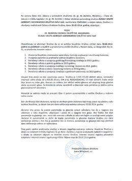 Poziv za sednicu skupstine akcionara DGA 2014