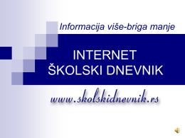INTERNET ŠKOLSKI DNEVNIK