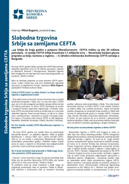 Slobodna trgovina Srbije sa zemljama ceftA