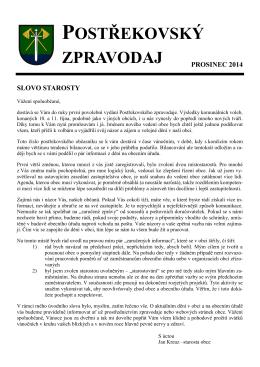 Postřekovský zpravodaj 2014-12