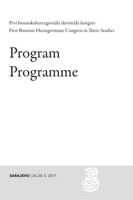 Program Programme - Slavistički komitet u BiH