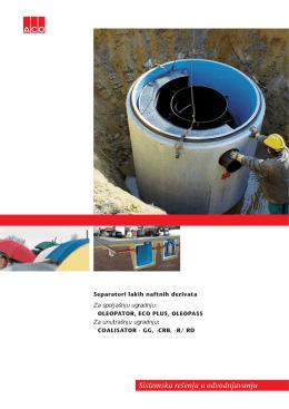Separatori lakih naftnih derivata Za spoljašnju ugradnju
