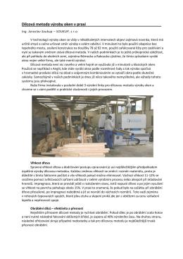 Dílcová metoda výroby oken v praxi