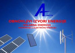 Energetski solarni sistemi (Preuzmite PDF dokument) - azimuth-dps