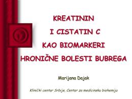 kreatinin i cistatin c kao biomarkeri hronične bolesti bubrega