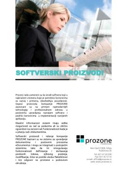 eDocumentus – Softverski proizvodi