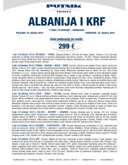 ALBANIJA I KRF - Putnik travel