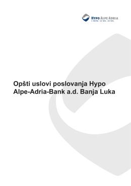 Opšti uslovi poslovanja - Hypo Alpe-Adria