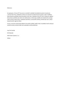 Reference Ke spolupráci s firmou KP