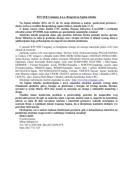 BTS SER Company d.o.o. Beograd na Sajmu tehnike Na Sajmu