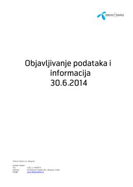 Izveštaj o upravljanju rizicima – II kvartal 2014.