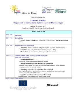 Preuzmite celokupan program konferencije - IAN-a