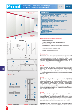 Stakleni zid – sistemska konstrukcija PROMAGLAS
