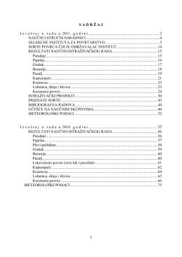 Godišnji izveštaj 2010.-2011.
