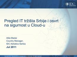 IDC – Pregled stanja IT tržišta i sigurnost u oblaku