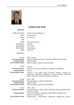 dr Vitomir Slijepčević - Fakultet za ekonomiju i menadžment