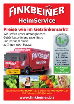 HeimService - Finkbeiner Getränkemarkt