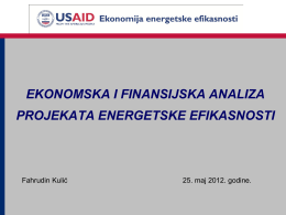 ekonomska i finansijska analiza projekata energetske efikasnosti