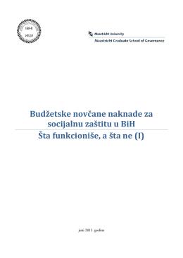 Budžetske novčane naknade za socijalnu zaštitu u BiH Šta