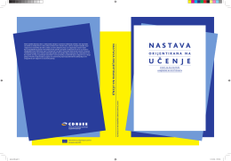 NASTAVA U Č E N J E - Center for Democracy in South East Europe