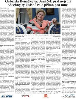 Rozhovor s Gabrielou Beňačkovou