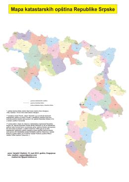 Mapa katastarskih opština Republike Srpske