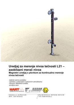 Uredjaj za merenje nivoa tečnosti L21 – zaobilazni