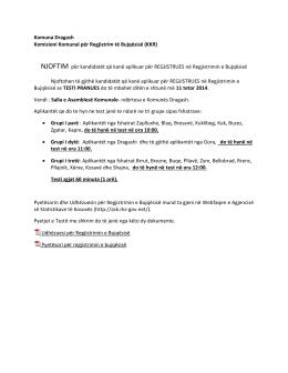 Komuna Dragash Komisioni Komunal për Regjistrim