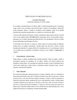Pogledajte ili preuzmite KN Uslove poslovanja (bosanski)