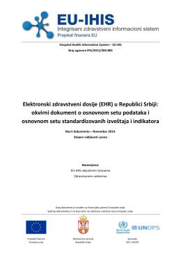 EU-IHIS EHR osnovni set podataka, izvestaja i indikatora_v8.2_SR